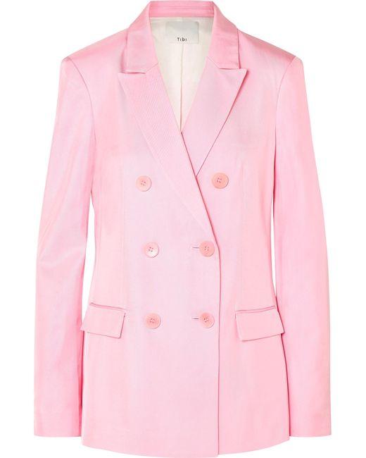Tibi - Pink Steward Double Breasted Blazer - Lyst