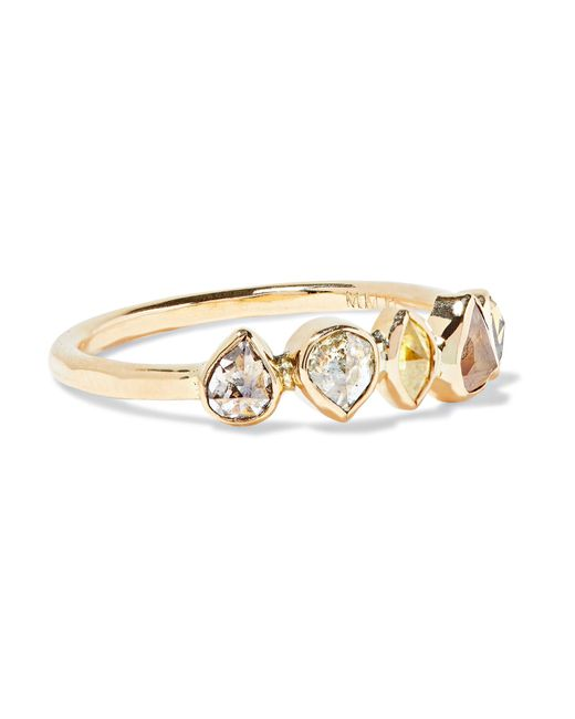 Melissa Joy Manning | Metallic 18-karat Gold Diamond Ring | Lyst