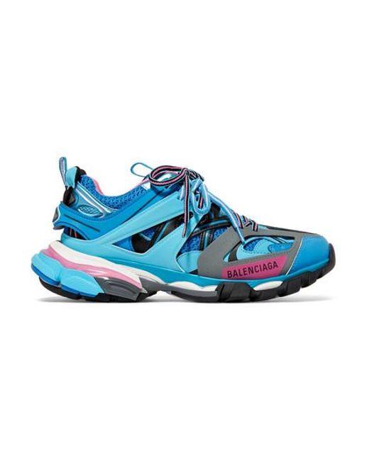 Balenciaga Blue Track Sneakers