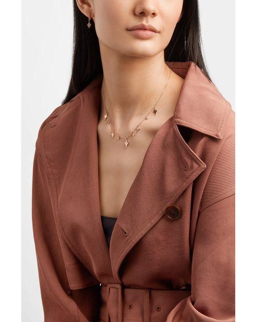 Diane Kordas Metallic Shield 18-karat Rose Gold Diamond Necklace