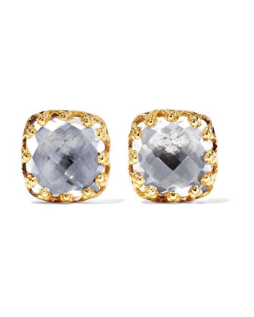 Larkspur & Hawk - Metallic 18-karat Gold-dipped Quartz Earrings - Lyst
