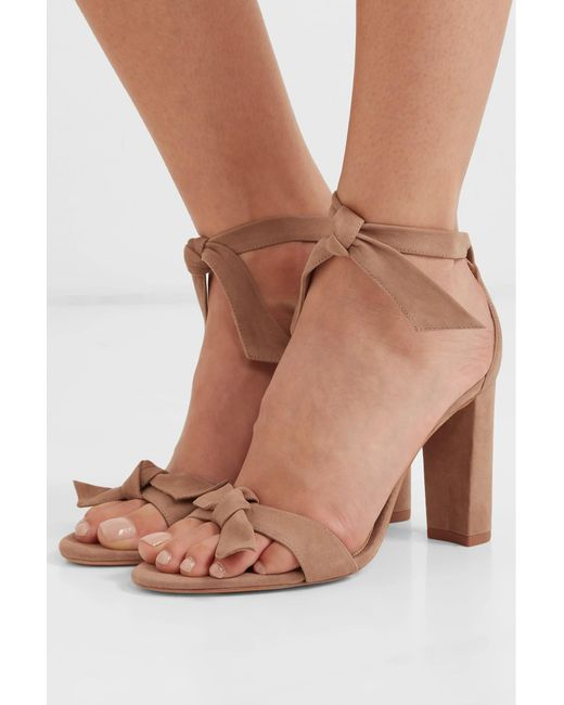 77ebba7f2ccb ... Alexandre Birman - Natural Clarita Bow-embellished Suede Sandals - Lyst  ...