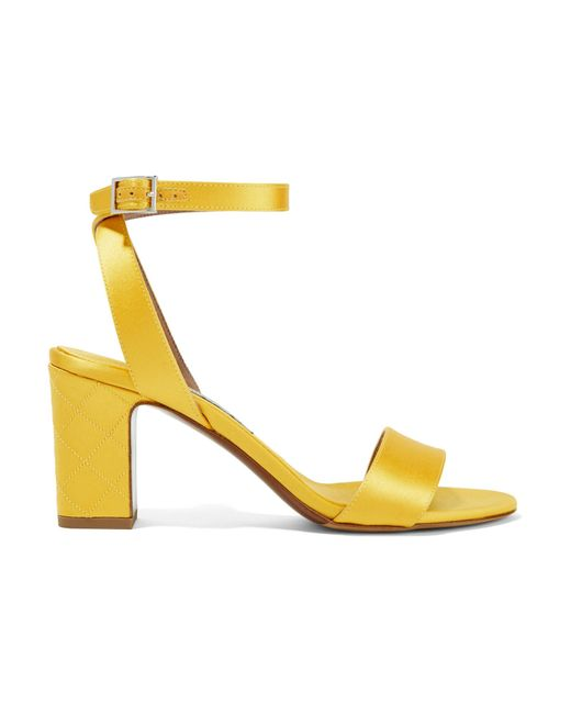 Tabitha Simmons - Yellow Leticia Satin Sandals - Lyst