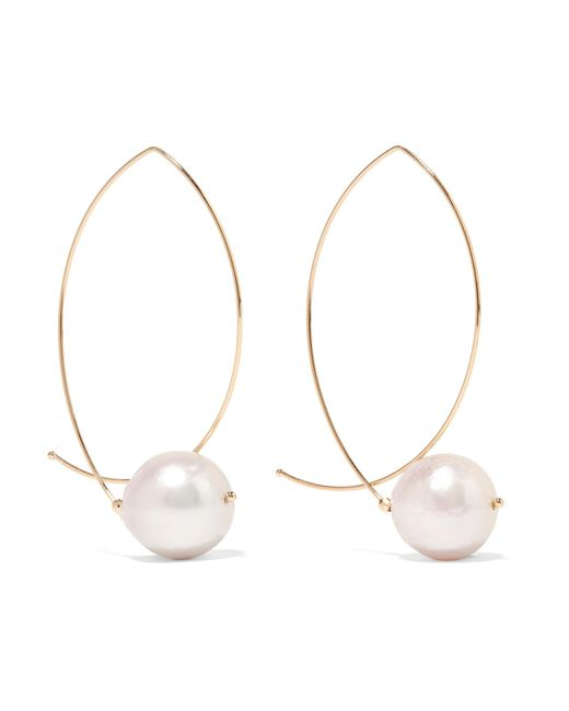 Mizuki - Metallic 14-karat Gold Pearl Earrings - Lyst