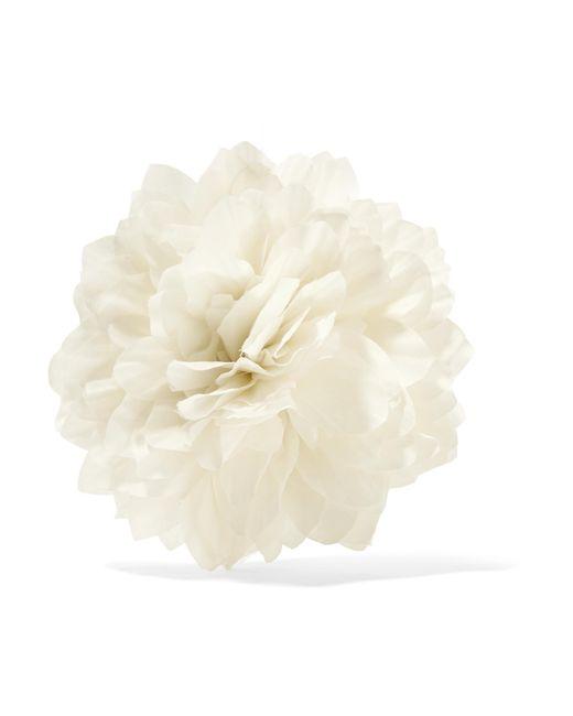 Gucci | White Floral Silk Brooch | Lyst