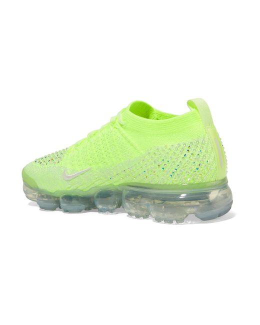 b1deb5308c64a ... Nike - Green Air Vapormax 2 Swarovski Crystal-embellished Flyknit  Sneakers - Lyst ...