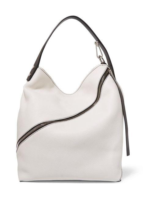 Proenza Schouler - White Hobo Medium Textured-leather Shoulder Bag - Lyst