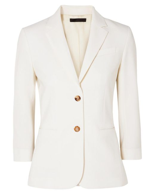 The Row - White Schoolboy Stretch Wool-blend Crepe Blazer - Lyst