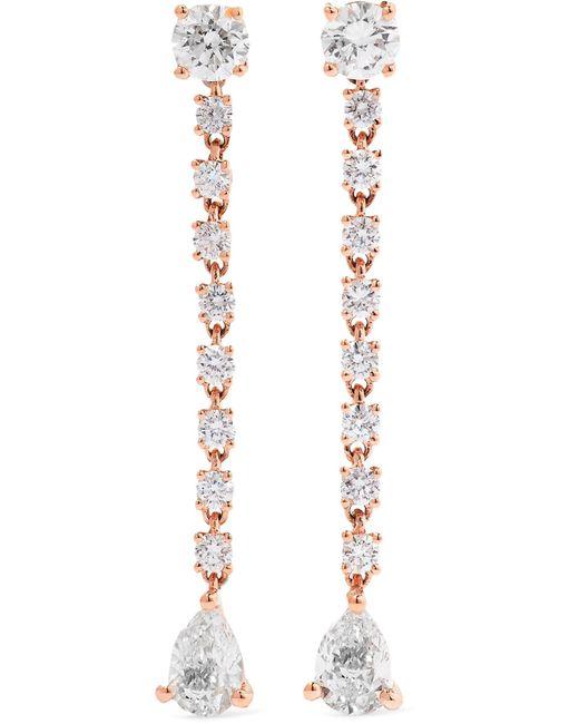Anita Ko - Metallic Rope 18-karat Rose Gold Diamond Earrings - Lyst