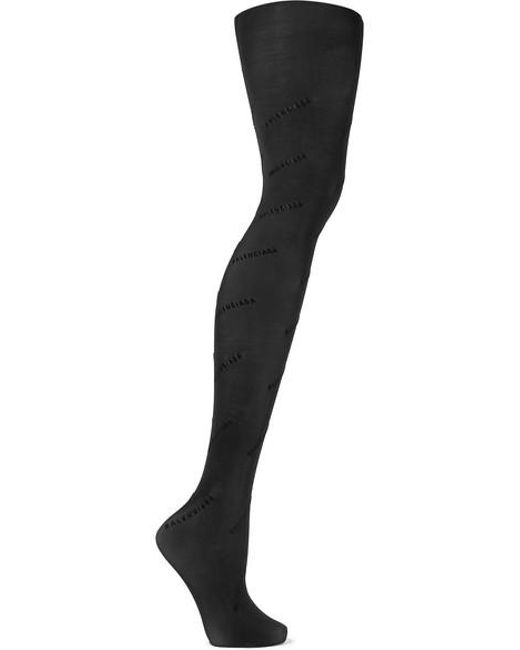Balenciaga Black Flocked Tights