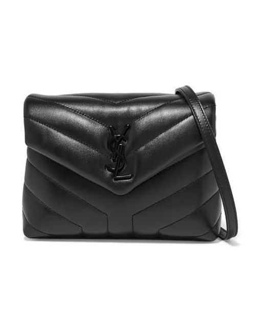 Saint Laurent Black Loulou Quilted Leather Shoulder Bag