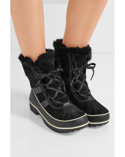 sorel tivoli ii waterproof suede and leather boots in