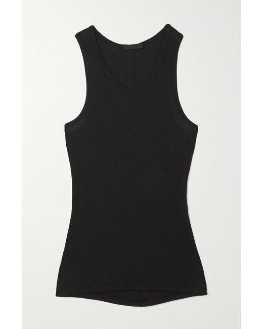 WARDROBE.NYC Black Ribbed Cotton-jersey Tank