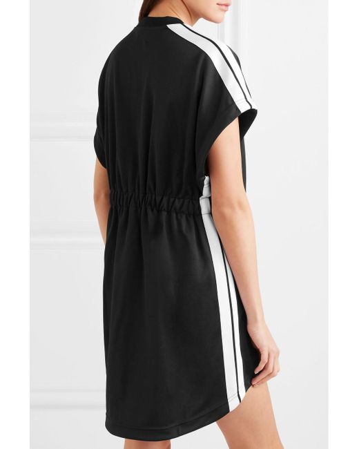 Striped Satin-jersey Mini Dress - Black Palm Angels Sale Sneakernews EUSzMzXZoB