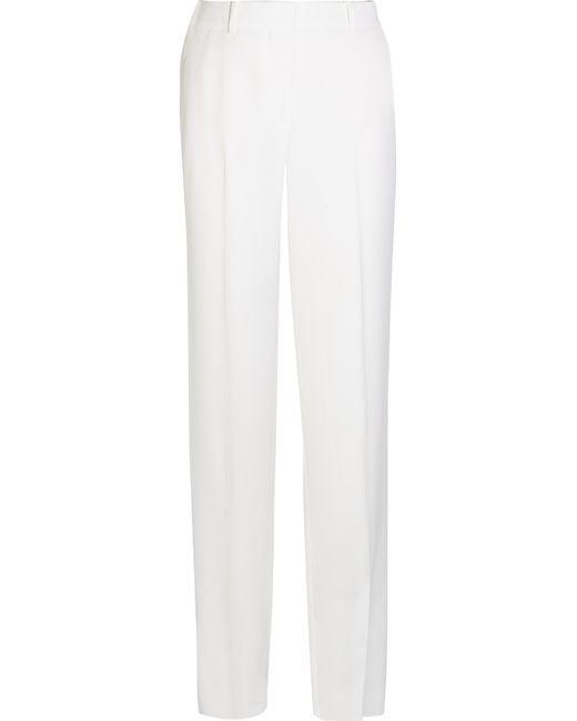 Givenchy | Black Wide-leg Tuxedo Pants In White Satin-crepe | Lyst