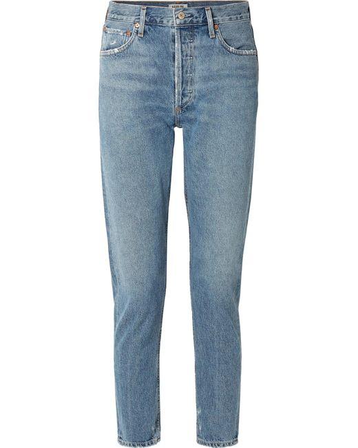 Agolde - Blue Jamie High-rise Straight-leg Jeans - Lyst