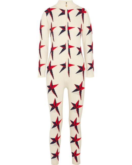 Perfect Moment | White Star Ii Intarsia Merino Wool Jumpsuit | Lyst