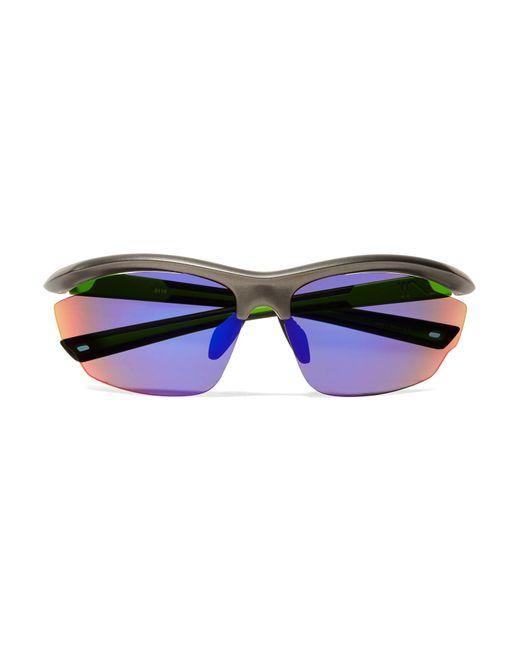 Westward Leaning - Black Volt D-frame Rubber Mirrored Sunglasses - Lyst