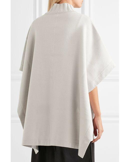 ... Theory   Gray Palomina Oversized Wool-blend Cape   Lyst ...