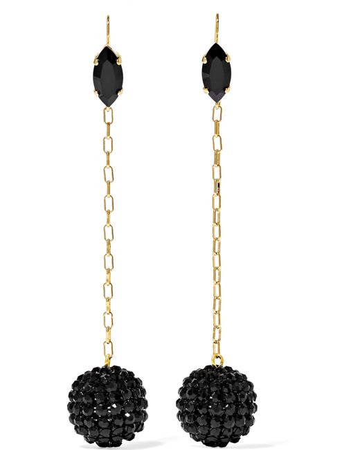 Isabel Marant | Blue Gold-tone Crystal Earrings | Lyst