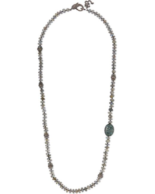 Loree Rodkin | Metallic Oxidized Sterling Silver Multi-stone Necklace | Lyst