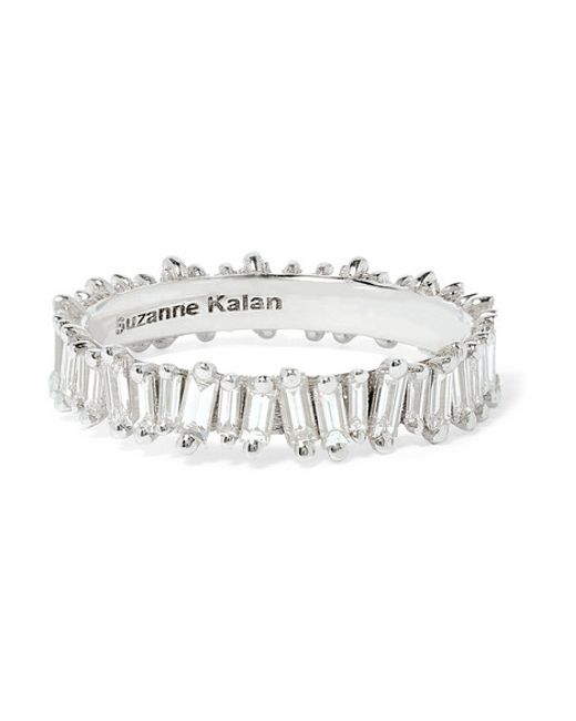 Suzanne Kalan | Metallic 18-karat White Gold Diamond Ring | Lyst