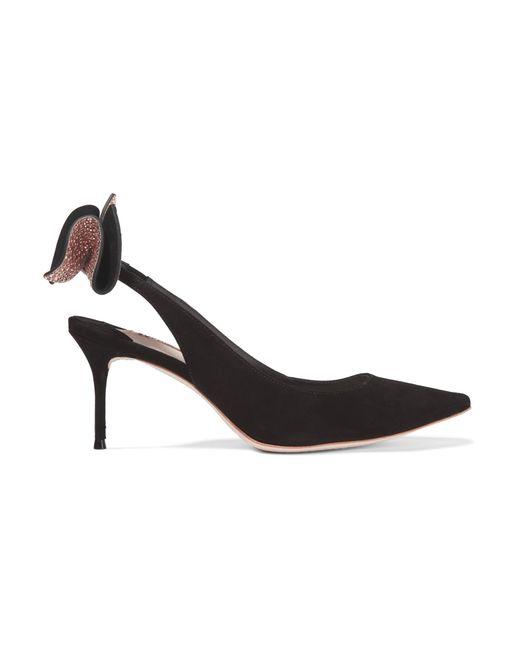 Sophia Webster | Multicolor Edie Black Bow-embellished Suede Pumps - Size 3 | Lyst