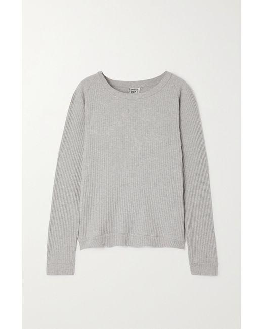 Baserange Gray + Net Sustain Gerippter Pullover Aus Biobaumwolle