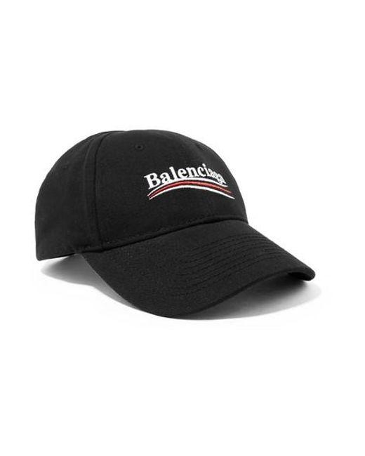 2a13259e Balenciaga Embroidered Cotton-twill Baseball Cap in Black - Save 48 ...