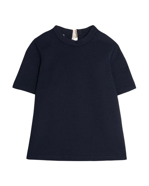 Marni | Blue Buckled Textured-neoprene Top | Lyst