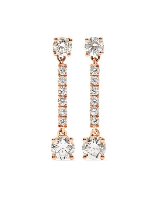 Anita Ko - Metallic Emma 18-karat Rose Gold Diamond Earrings - Lyst
