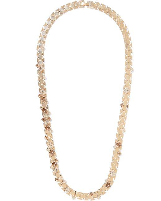 Lanvin | Metallic Gold-tone Crystal Necklace | Lyst