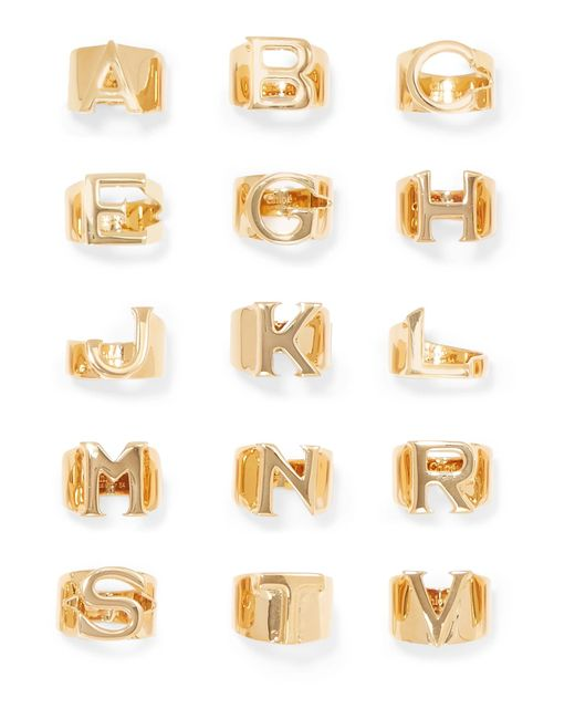Chloé - Metallic Alphabet Gold-tone Ring - Lyst