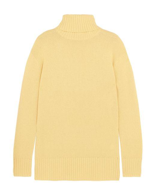 Chloé | Yellow Cashmere Turtleneck Sweater | Lyst