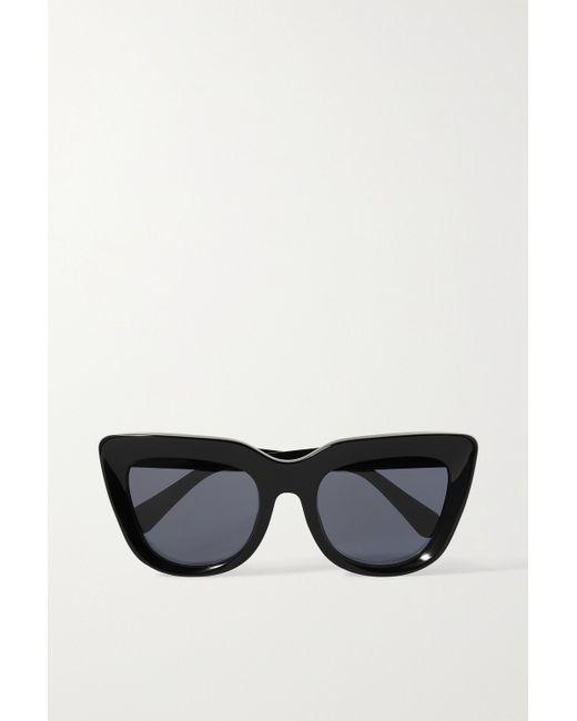 Stella McCartney Black Sonnenbrille Mit Cat-eye-rahmen Aus Azetat