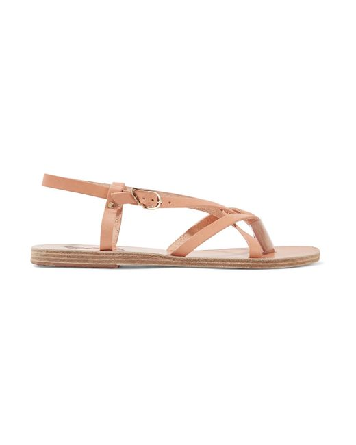 Ancient Greek Sandals | Natural Semele Leather Sandals | Lyst