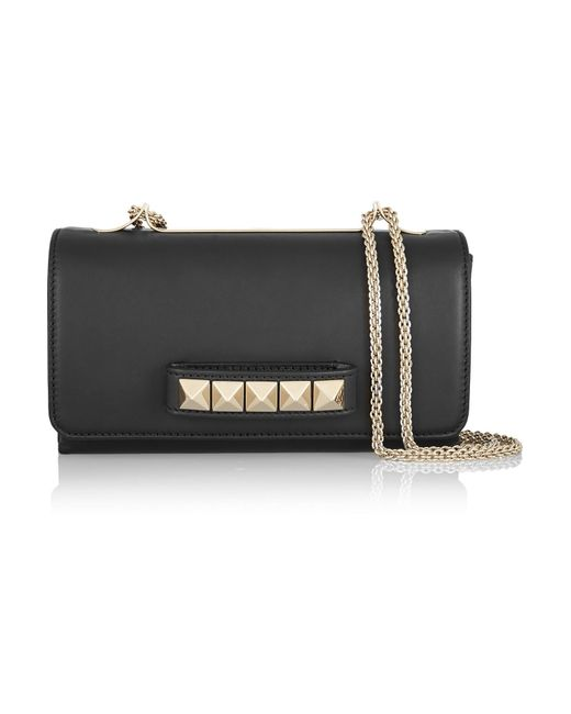 Valentino - Black Garavani Va Va Voom Leather Shoulder Bag - Lyst