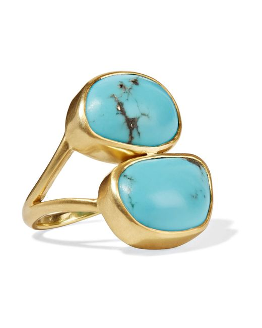 Pippa Small | Metallic 18-karat Gold Turquoise Ring | Lyst