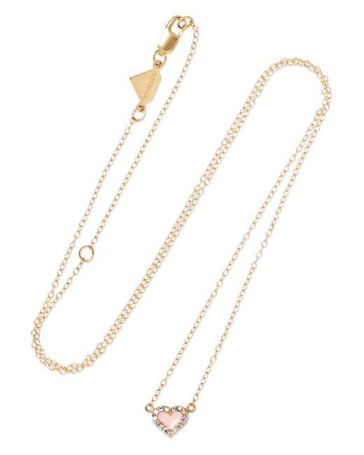 Alison Lou - Metallic 14-karat Gold, Diamond And Enamel Necklace - Lyst