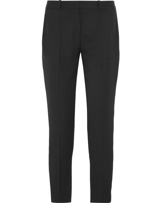 Stella McCartney | Black Wool-twill Slim-leg Pants | Lyst