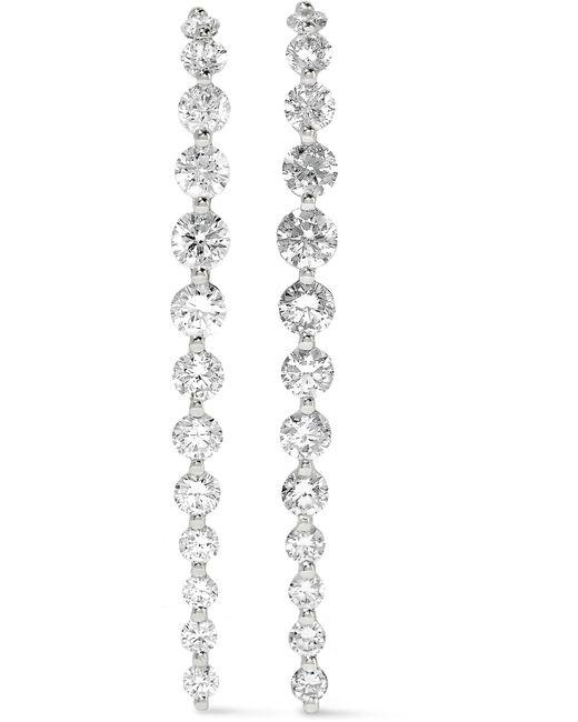 Anita Ko | Long Cascade 18-karat White Gold Diamond Earrings | Lyst