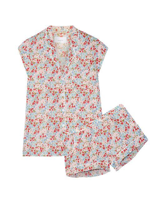 Three J Nyc   Red Olivia Floral-print Cotton-poplin Pajama Set   Lyst
