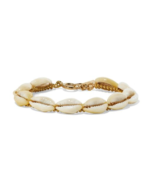 Isabel Marant - White Gold-tone And Shell Bracelet - Lyst