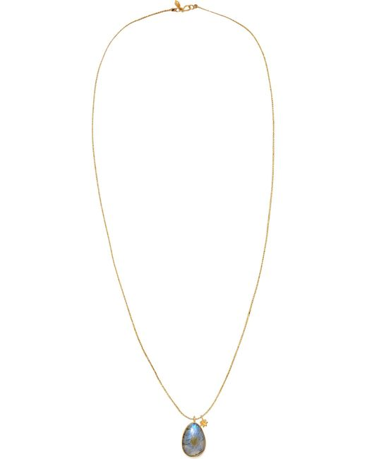 Pippa Small | Metallic 18-karat Gold Labradorite Necklace | Lyst