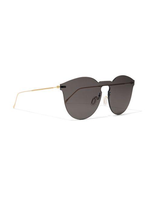 Illesteva Leonard Ii Mask Round-frame Gold-tone Sunglasses ...