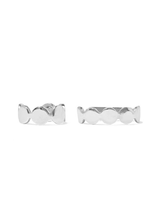 Saskia Diez | Metallic Paillettes Set Of Two Silver Ear Cuffs | Lyst