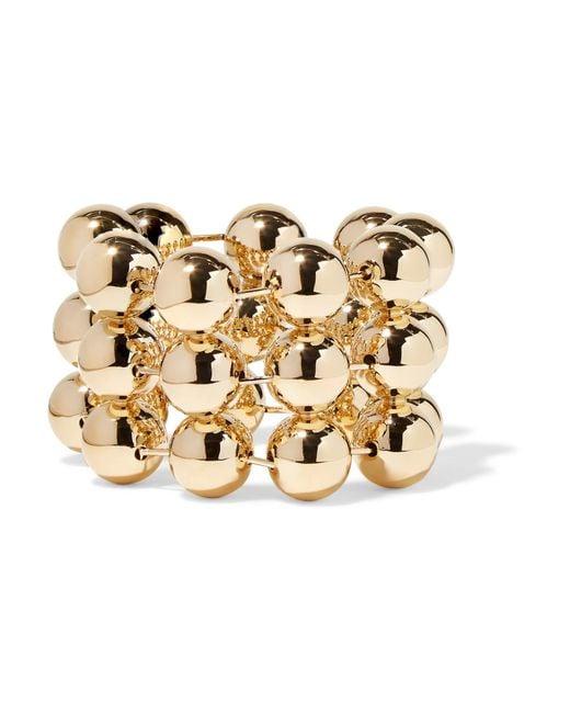 Balenciaga | Metallic Gold-tone Bracelet | Lyst