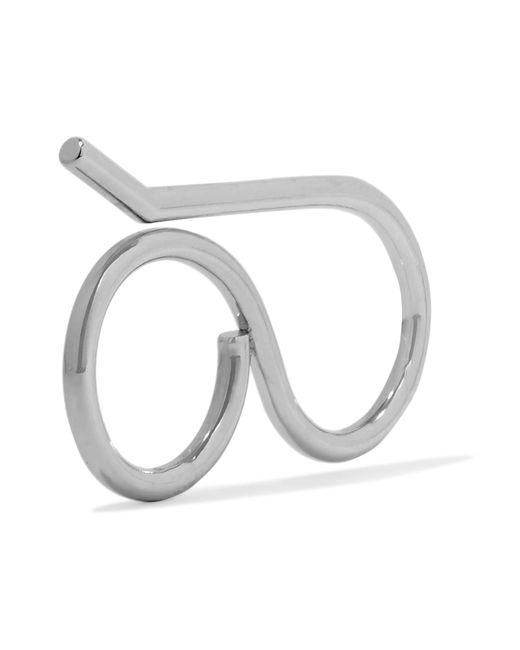 Balenciaga | Metallic Silver-tone Ring | Lyst