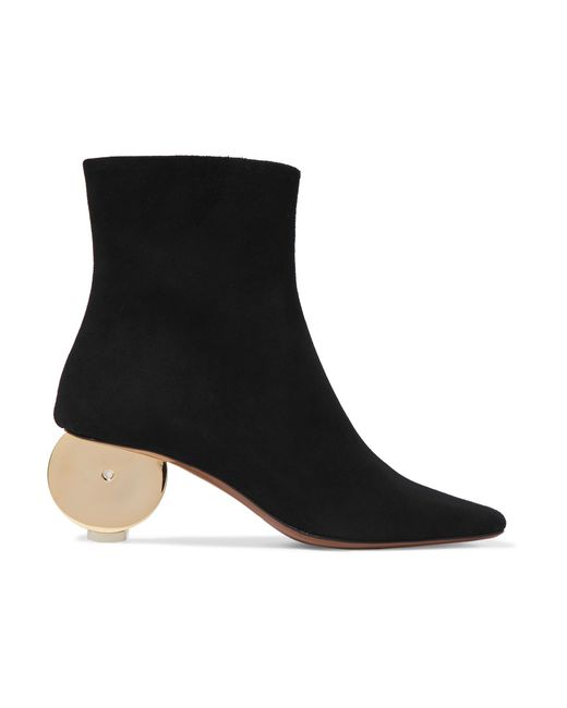 Neous - Black Moon Suede Ankle Boots - Lyst