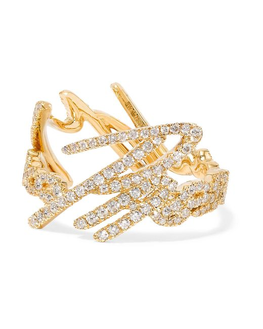 Stephen Webster | Metallic + Tracey Emin More Passion 18-karat Gold Diamond Ring | Lyst